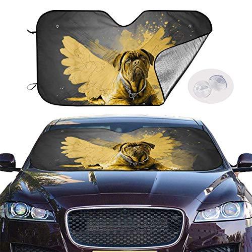 mchmcgm Cubierta para sombrilla de perro con alas amarillas para coche, universal, 51,2 x 27,6 pulgadas, con ventana para mantener tu vehículo fresco y visor, para SUV