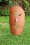 Maske XL 95cm Rost Skulptur Gartendeko Gartenskulptur Rost Metall