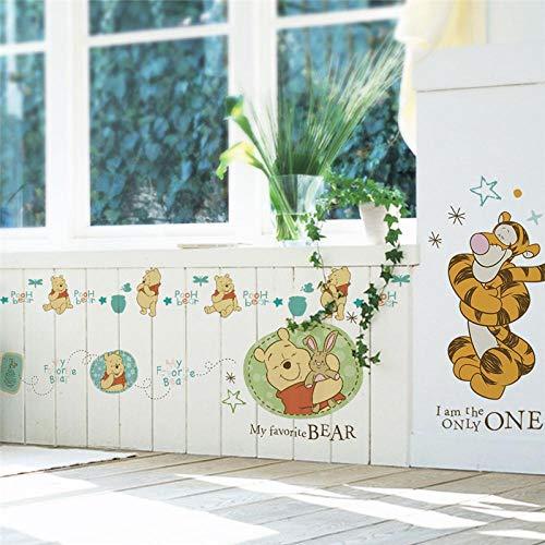 Greneric Cartoon Winnie the Pooh Wall Sticker Bedroom Children's Room Home Decor Animals Wall Sticker PVC Poster DIY Mural Art