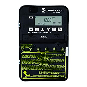 Intermatic ET1125C 24-Hour 30-Amp Electronic Time Switch 120-277 VAC NEMA 1 2-Circuit/30-Amp Rating