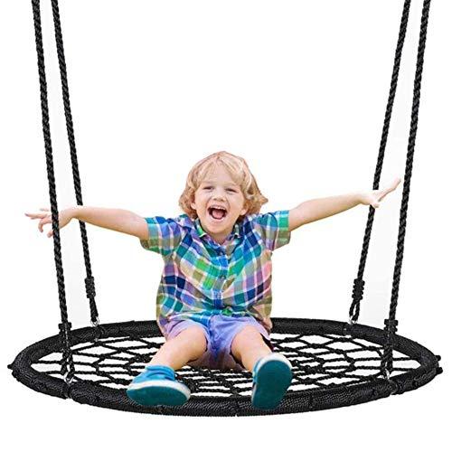 Balançoires YXX Nid D'oiseau Jardin 40 dans d'arbre à Soucoupe Suspendue pour Jardin, arrière-Cour et Porche - À l'extérieur Chaise hamac Spider Web pour Enfants, garçons, Filles et Adultes