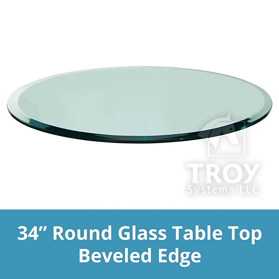 Glass Table Top: 34'' Round, 3/8