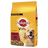 Pedigree Dry Dog Food for Adult Dogs 1+ with Beef and Vegetable, 1 Bag (1 x 12 kg)