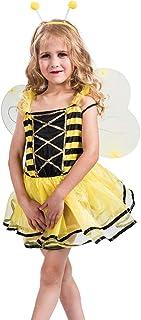 WANLN Disfraz Abeja Niña, Trajes De Fiesta De Disfraces De Halloween, Noche De Carnaval, Disfraz De Abeja De Abeja para Niños con Alas Y Diadema De Antena,M