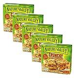 Barras de cereales crujientes de Nature Valley, copos de avena integral y mantequilla de maní sin colorantes ni conservantes sin lactosa, aptas para vegetarianos, 5 x 210 gramos (50 barras)