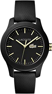 Lacoste Women's 'Ladies 12.12' Quartz Stainless Steel and Silicone Casual Watch, Color:Black (Model: 2000959)