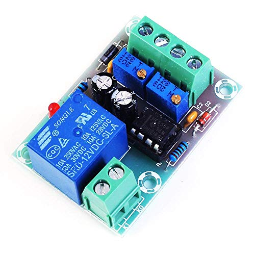 ICQUANZX XH-M601 Tablero de Control de Carga de batería 12V Cargador Inteligente Fuente de alimentación Módulo de Control Panel Carga automática/Parada