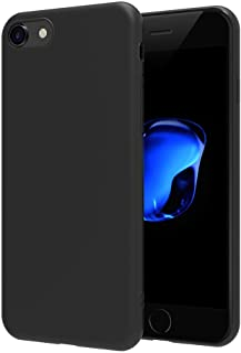 comprar comparacion AICEK iPhone 7 / iPhone 8 Funda, Negro TPU Apple iPhone 7 Carcasa Funda Suave Flexible Piel Resistente a los Arañazos Sili...