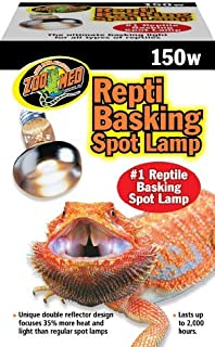 Zoo Med Repti Basking Spot Bulbs, 150 watt, E27 Threaded Base, Set of 2 Bulbs Bundle with Carolina Custom Cages' Chlorhexi...