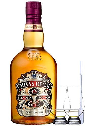Chivas Regal 12 Jahre 0,7 Liter + 2 Glencairn Gläser + Einwegpipette 1 Stück