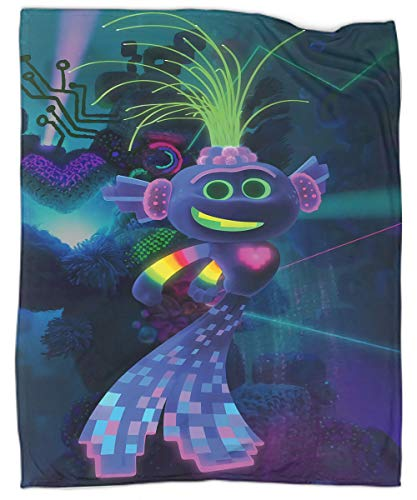 MRFSY Manta de felpa súper suave y lujosa Trolls World Tour King Trollex manta ligera de microfibra para cama, sofá, silla, sala de estar, 40 x 50 pulgadas