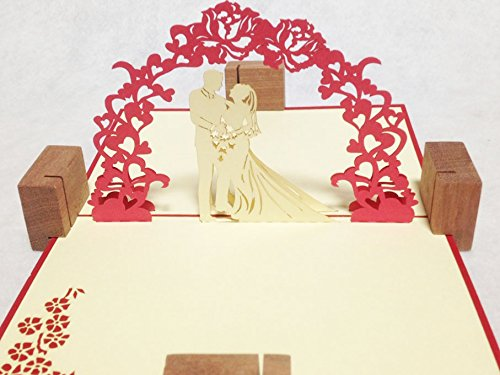POPUP-CARD ドットコム 結婚祝い用グリーティングカード 立体ポップアップ ラブ・ウェディング L-020
