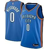 NIKE OKC M Nk Swgmn JSY Road Camiseta 2ª Equipación Oklahoma City Thunder 17-18 de Baloncesto, Hombre, Azul/Signal Blue/College Navy, XL