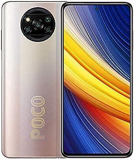 Xiaomi Poco X3 Pro ثنائي شريحة الاتصال NFC معدنية برونزية 6GB RAM 128GB 4G LTE + Mi سماعات أذن فضية [حصرية من Amazon]