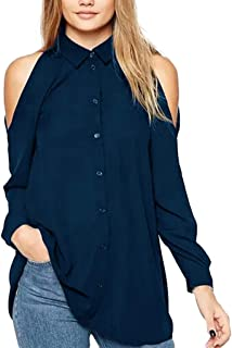 Vectry Camiseta Manga Larga Mujer Blusa Mujer Blusa Gasa Blusa Lisa Blusa Lazo Blusa De Moda Camiseta Escote Blusa Escote Abierto Blusa Rosa