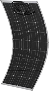 GiODLCE 160W Monocrystalline Solar Panel Bendable Portable Solar Panel Flexible Solar Power Module for Camper Van, Boat, House, Garden, Shed or Farm (160W)