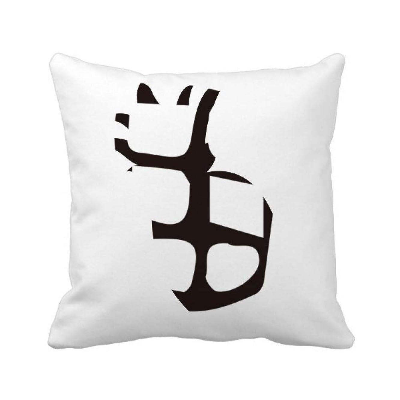 ビジュアル上院喪骨の銘は、中国の姓の文字田 パイナップル枕カバー正方形を投げる 50cm x 50cm