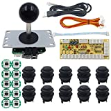SJJX Arcade Game DIY Kit Arcade Matt Frosted Button Zero Delay USB Encoder Arcade Joystick Controller Mechanical Keyboard Switch Raspberry Pi Retropie PC MAME