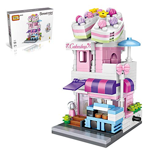 LOZ Mini Building Brick Toys Cake Shop Blocks Educational Toys for Girls and Boys with Classic DIY Bricks Set for Kids Age 6-12 and Up (334 Pieces)