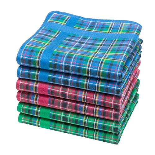 Merrysquare - Taschentücher aus Schottengewebe - Glencoe - 28cm - 6 Stück - 100% Baumwolle