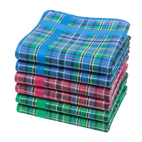 Merrysquare - Taschentücher aus Schottengewebe - Glencoe - 28cm - 6 Stück - 100{1bb8ac91d65242c0e4e9ec2fac83814158f9a63180026aacaabfbe401c682816} Baumwolle