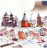 MNHG 34pcs Creative Kawaii selbst gemacht Senden Sie eine Traumstadt Burg schöne Aufkleber...