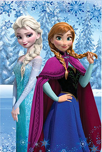 Manta polar Frozen Disney hermanas