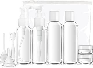 SHiZAK 小分けボトル 化粧水 香水 アトマイザー 詰め替え容器 通勤/旅行/出張対策可能 化粧品容器 上品 香水瓶 スプレーボトル ポンプ 詰め替え ミニ 携帯便利 軽量 10個セット 50ml 透明