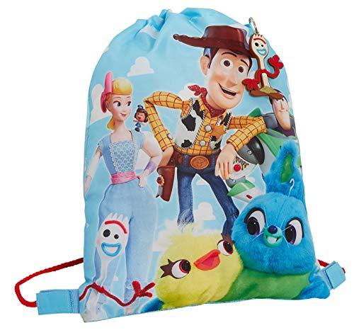 Bolsa de gimnasio para niños y niñas Toy Story 4 con cordón para gimnasio, Blue (Azul) - MNCK13218