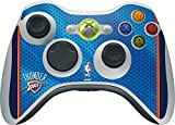 Skinit Decal Gaming Skin Compatible with Xbox 360 Wireless Controller - Officially Licensed NBA Oklahoma City Thunder Blue Jersey Design