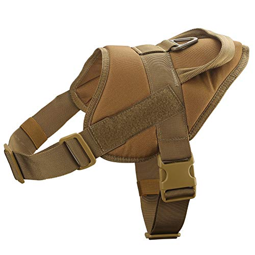 Yisibo - Chaleco táctico con arnés para perros policía o del ejército (ajustable, para entrenamiento, nailon, cómodo)