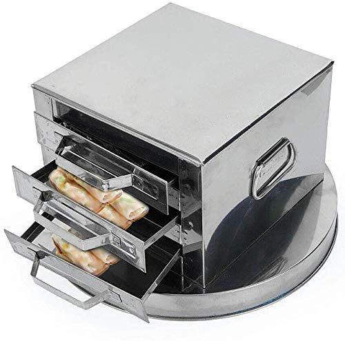 BWJL Trois Couches de Cuisson Vapeur tiroir, ménage Cuisines Bricolage Petit déjeuner nouille de Riz Machine Rolls, en Acier Inoxydable Multi-Fonction pour Les Personnes âgées