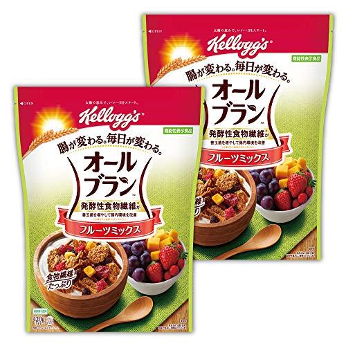 【Amazon.co.jp限定】 ケロッグ オールブラン フルーツミックス 徳用 420g ×2袋 機能性表示食品