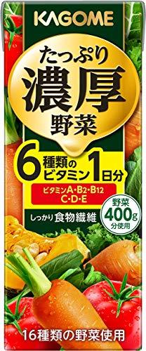 たっぷり濃厚野菜 200ml×24本 紙パック