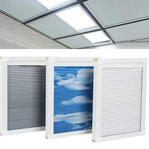 KARLLEO Skylight Blinds Roof Window Shades Cellular Blinds Honeycomb Blinds Blackout Curtain Freely Rod Contact Us Customize Size Or Update Motorized (White (Blackout), Customize Size)