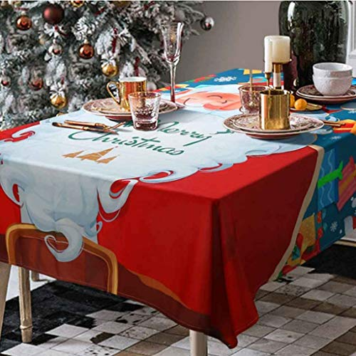 Kerstmis tafelkleden rechthoekige langwerpige rode linten Vrolijk kerstfeest tafel placemats tafelkleed Ideaal for buffet tafel, partijen, vakantie diner, bruiloft (Size : Tablecloth 150 * 260cm)