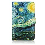 Checkbook Cover(2020 Edition), ACdream Premium Leather Personal Checkbook Cover Holder for Women & Men with Magnetic Closure (Support Checks & Credit Cards), Starry Night