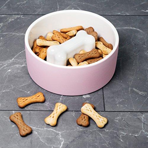 Magisso 90204 Wassernapf Fressnapf, Natürlich abkühlende Keramik, Langsam Fressen Futternapf, 20 cm Diameter, 1.7 Liter, L, rosa