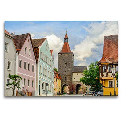Premium Textil-Leinwand 120 x 80 cm Quer-Format Nürnberger Tor | Wandbild, HD-Bild auf Keilrahmen, Fertigbild auf hochwertigem Vlies, Leinwanddruck von Dirk Meutzner