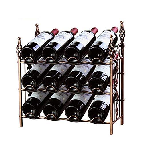 Soporte para copas de vino 12 botellas de vino estante de exhibición...