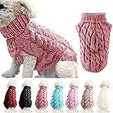 FAMKIT Abrigo de suéter de Punto con Cuello Alto para Perros y Mascotas,...