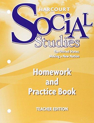 Hmwk&prac Bk Te Us: Mkg NW Ntn SS 07 (Harcourt Social Studies)