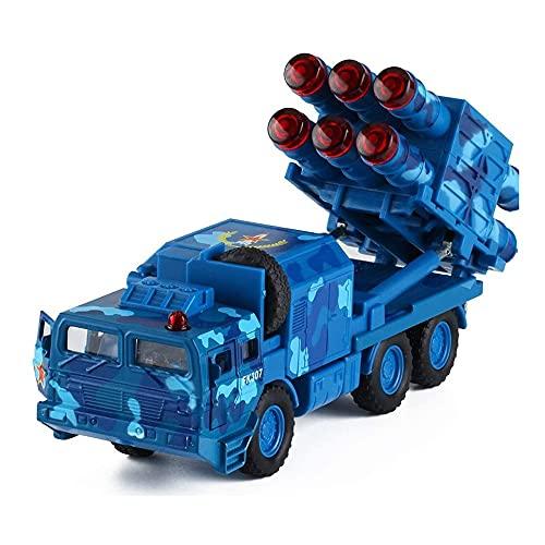 speelgoedauto Simulación de modelo de juguete de coche de misiles tierra-aire de largo alcance, utilizado para coches de juguete de metal para niños y niños, juguete de tanque de cohete antiaéreo