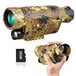 Night Vision Monocular Goggles Scope, 8X40 Night Vision Optics Scope HD Digital Night Vision Infrared Monoculars with Photos and Video Playback Function for Hunting and Wildlife Observation