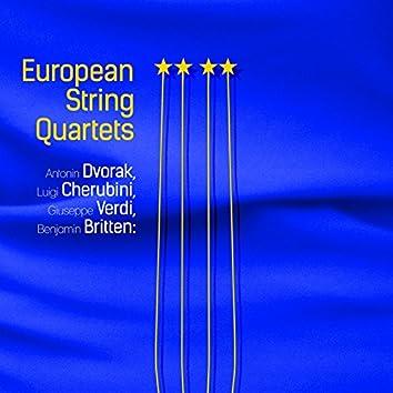 Antonin Dvorak, Luigi Cherubini, Giuseppe Verdi, Benjamin Britten: European String Quartets