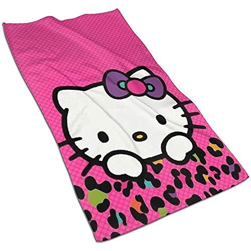 Leopard Kitty Soft Super Absorbent sneldrogende handdoek badhanddoek strandlaken - 27,5 x 17,5 inch