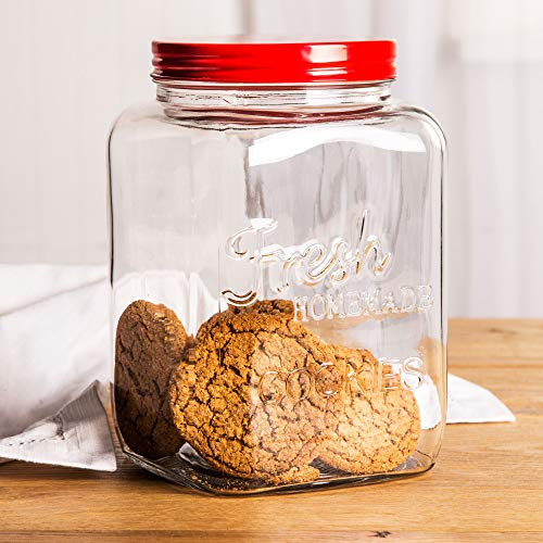 Glass Cookie Jar with Lid Mason By Home Essentials & Beyond