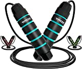 RDX Skipping Rope Weighted with Soft Memory Foam Handles, 10.3FT Adjustable Tangle-Free PVC Coated Steel Jump Cable, Fat Burning Yoga Fitness MMA Weight Loss HIIT Slimming Home Gym Exercise Workout