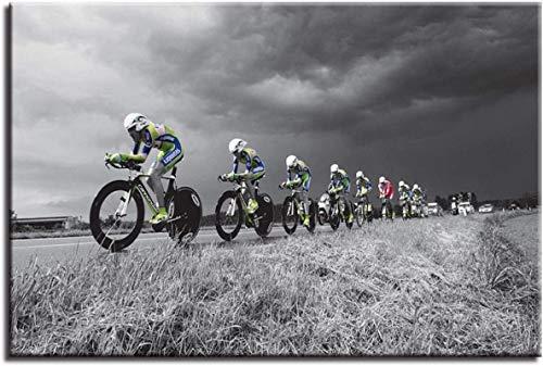 Impresión de arte de pared Arte de pared Impresiones en HD Carteles de bicicletas de campo traviesa Imágenes de bicicletas de montaña Pinturas deportivas en lienzo Decoración 70x90cm sin marco