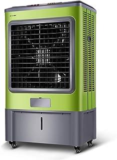 Bärbar luftavdunstningskylare grön, luftkylare fläkt med Ice 3 hastighetskontroll och 45 l vattentank, energibesparande oc...